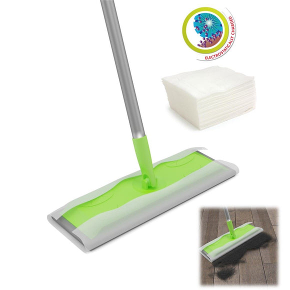 Static Floor Duster Cleaning Mop Can Be Used with Wet or Dry Wipes
