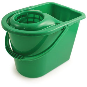 Green Entry Level Colour Coded Food Hygiene Plastic Floor Mop Bucket