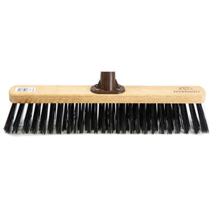 "Newman and Cole 18"" Stiff Synthetic Broom Head with Plastic Socket - The Dustpan and Brush Store"