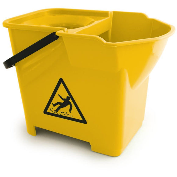 Yellow Expert Strong Colour Coded Food Hygiene Plastic Floor Mop Bucket