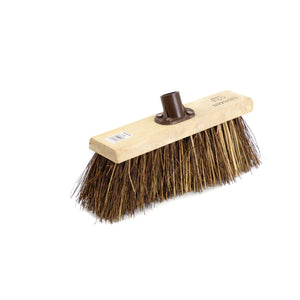 "Newman and Cole 13"" Bass & Cane Flat Broom Head with Plastic Socket - The Dustpan and Brush Store"