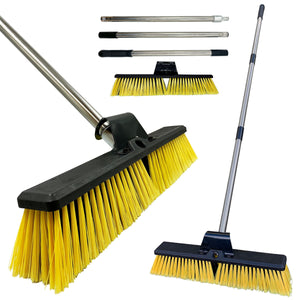 "18"" Yard Broom with Multi Section Handle"