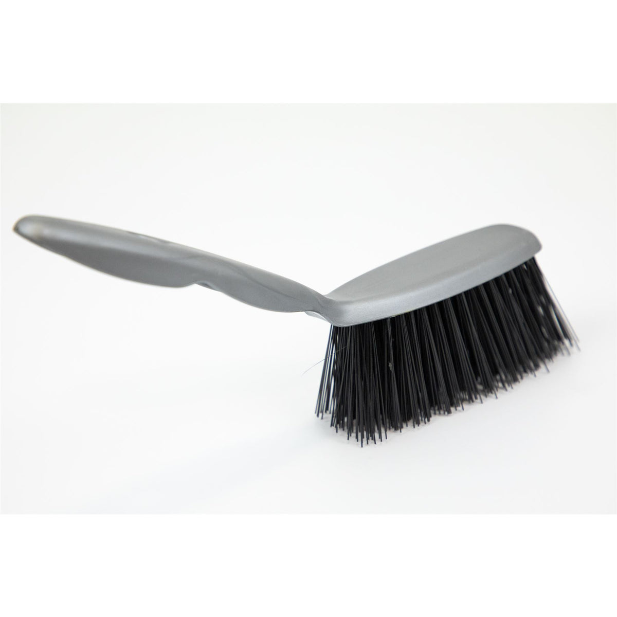 Plastic Hand Brush With Stiff Synthetic Bristles The