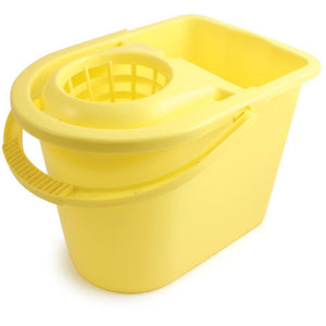 Yellow Entry Level Colour Coded Food Hygiene Plastic Floor Mop Bucket