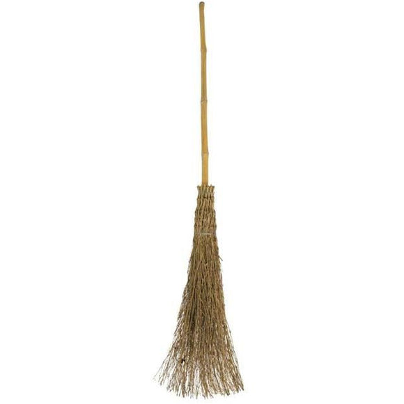 TRADITIONAL BESOM BROOM WITCHES BROOMSTICK GARDEN CORN LEAF SWEEPING HALLOWEEN