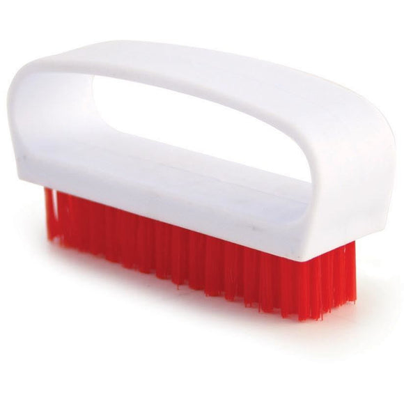 Red Nail Brush Colour Coded Food Hygiene Hand Cleaning Nail Scrubbing Brush - The Dustpan and Brush Store