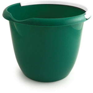 Green Colour Coded Food Hygiene Plastic 10L Bucket and Handle - The Dustpan and Brush Store