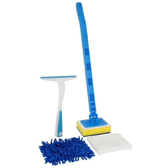 Tile Sponge Cleaner Bathroom Squeegee Extendable Handle