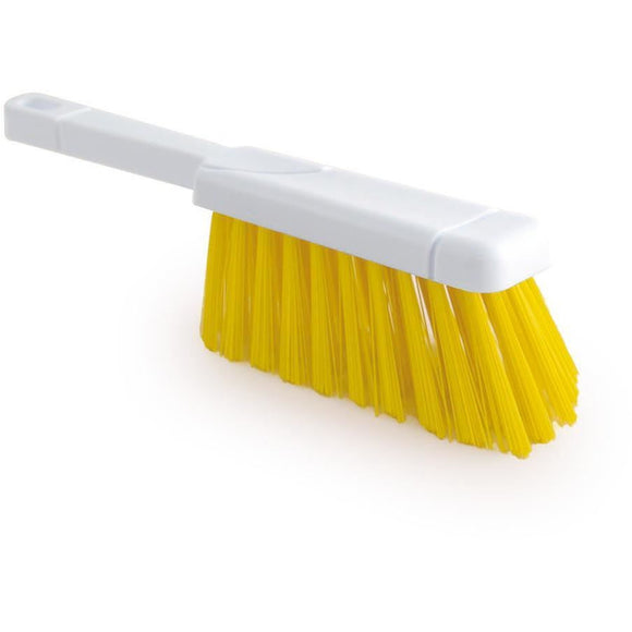 Yellow Colour Coded Hand Brush Stiff Banister Hygiene Brush - The Dustpan and Brush Store