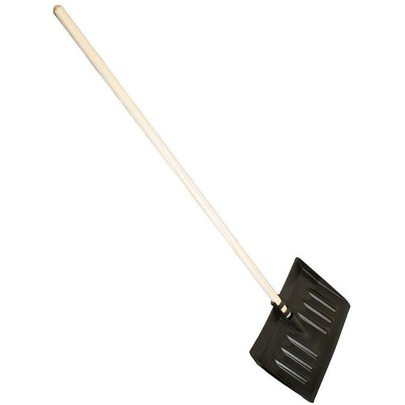 Plastic Snow Scoop Shovel Head and Wooden Hanlde - The Dustpan and Brush Store