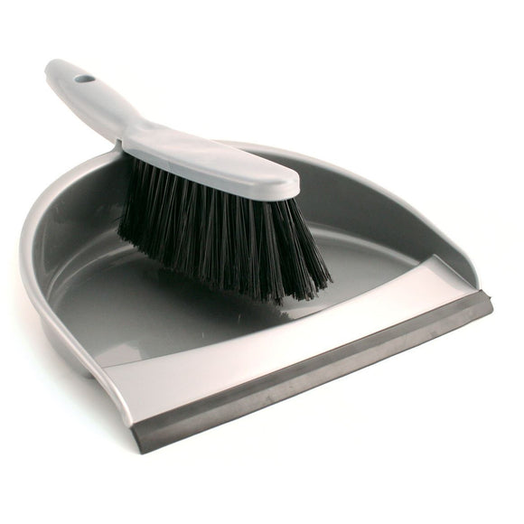 Plastic Dustpan and Brush Set Value Dust Pan with Stiff Hand Brush