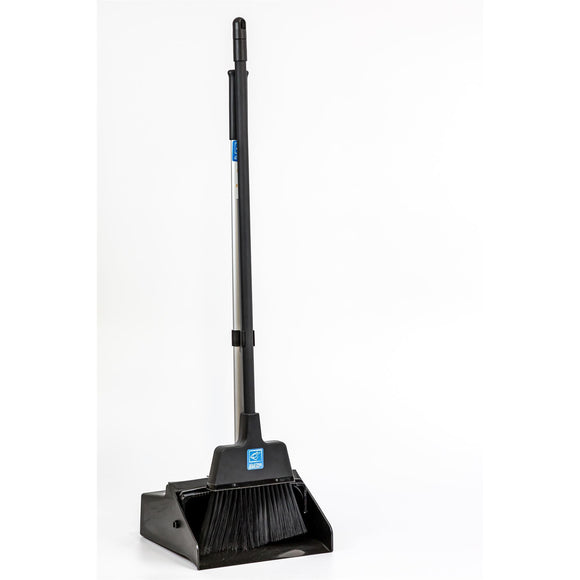 Long Handled Dustpan and Brush Strong Lobby Commercial Dust Pan and Broom - The Dustpan and Brush Store