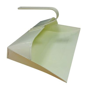 Cream Metal Hooded Dustpan, Metal Closed Dust Pan - The Dustpan and Brush Store