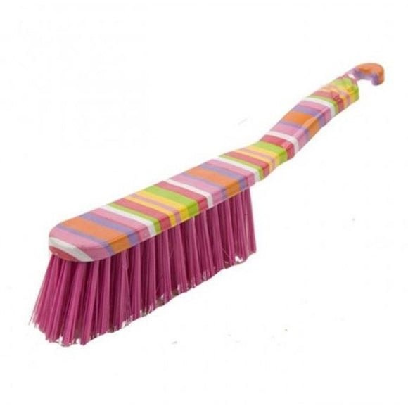 Striped Hand Brush Soft Bristle Plastic Coloured Banister Brush - The Dustpan and Brush Store