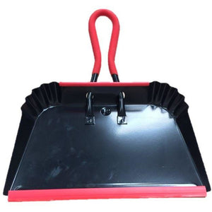 "Heavy Duty 16"" Industrial Strong Metal Dustpan Extra Large Strong Garden"