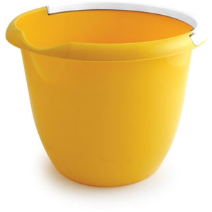 Yellow Colour Coded Food Hygiene Plastic 10L Bucket and Handle - The Dustpan and Brush Store