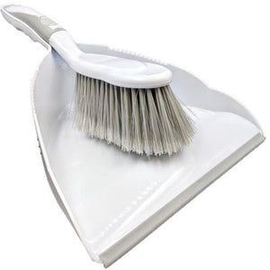 Deluxe Dustpan and Brush Set in Grey
