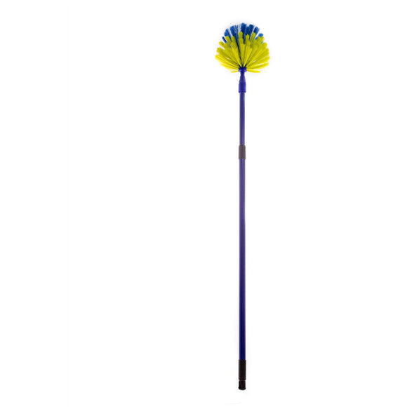 Long Handled Extra Long Reach Telescopic Extending Handle Cobweb Brush Duster - The Dustpan and Brush Store