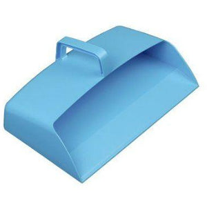 Blue Plastic Hooded Dustpan - Closed Dustpan - The Dustpan and Brush Store