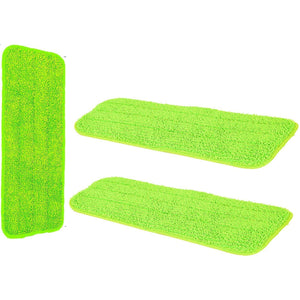 Microfibre Laminate Floor Mop Replacement Pad Cloths - Spray Mop Refill Replacement Head Cloth Refil Pad - Pack of 3 Machine Washable Reusable High Absorbent Cleaning Pads - Suits and Fits Most Spray Mops 42cm x 14cm