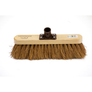 "Newman and Cole 12"" Natural Coco Broom Head with Plastic Socket - The Dustpan and Brush Store"