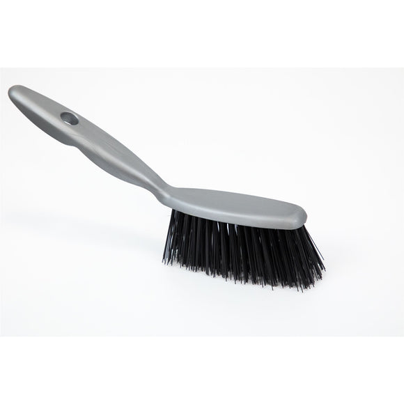 Plastic Hand Brush with Stiff Synthetic Bristles