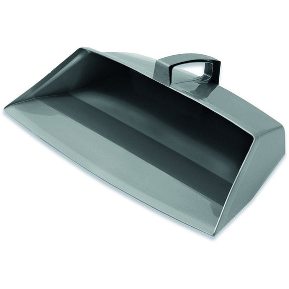 Addis Closed Hooded Plastic Dustpan in Silver / Grey - The Dustpan and Brush Store