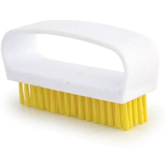 Yellow Nail Brush Colour Coded Food Hygiene Hand Cleaning Nail Scrubbing Brush - The Dustpan and Brush Store