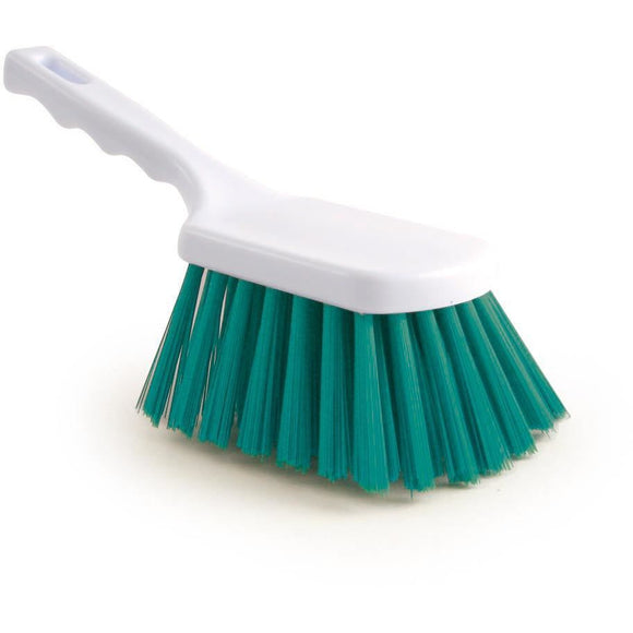Green Stiff Churn Brush Colour Coded Hygiene Pot Scrub Brush - The Dustpan and Brush Store