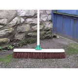 "24"" (60cm) Stiff Bassine Warehouse Platform Broom, Large Stiff Brush"
