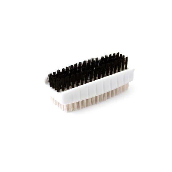 Double Sided Easy Grip Plastic Nail Brush - Black and White