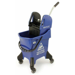 Blue Large Heavy Duty Ergo 31L Kentucky Mop Bucket on Wheels with Wringer