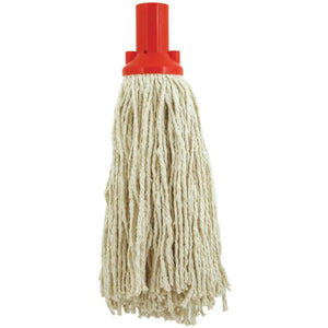 Red Colour Coded No12 Pure Yarn Plastic Socket Cotton Mop Head