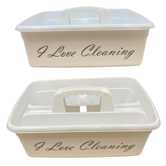 I Love Cleaning Caddy Cleaners Carry Storage Tray