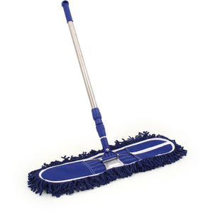 "24"" 600mm Heavy Duty Industrial Flat Floor Mop Dustbeater Dry Swivel Mop"