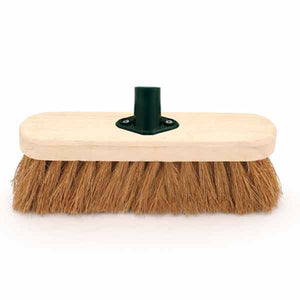 "10"" Soft Natural Coco Sweeping Brush Head, Soft Broom Head"