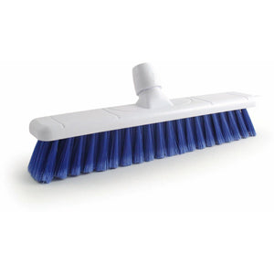 "Colour Coded 16"" Soft Broom Head Only - Blue - The Dustpan and Brush Store"