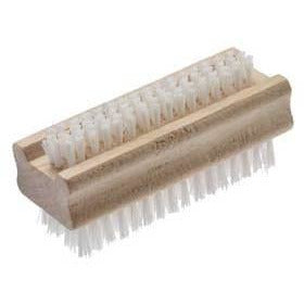 Good Quality Natural Wooden Nail Brush Washing Up Nail Brush Double Sided - The Dustpan and Brush Store