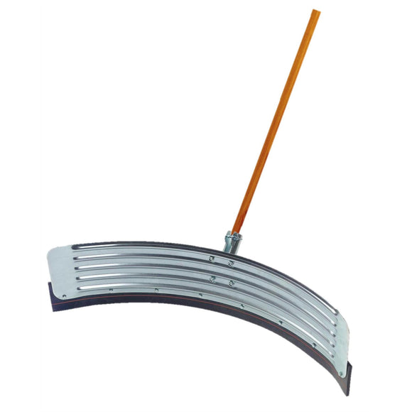 Curved Squeegee and 1 1/8 Wooden Handle