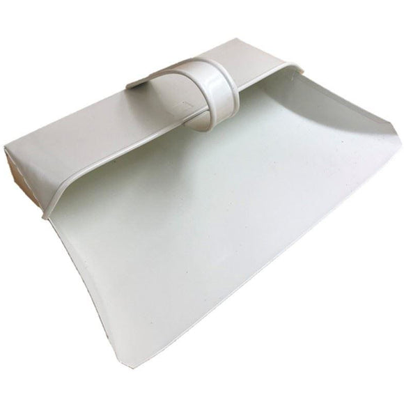 Cream Hooded Metal Dustpan Traditional Stylish Design