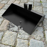 Strong Trade Metal Dustpan Thick Gauge Heavy Duty 350mm Black Dust Pan - The Dustpan and Brush Store