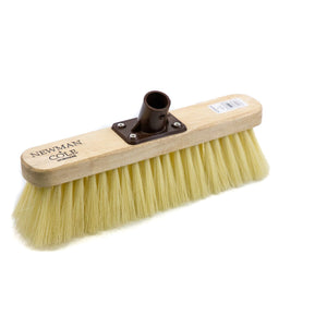 "Newman and Cole 12"" Soft Crimped Synthetic Broom Head with Plastic Bracket - The Dustpan and Brush Store"