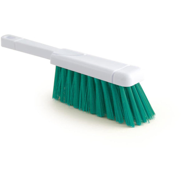 Green Colour Coded Hand Brush Stiff Banister Brush Hygiene - The Dustpan and Brush Store