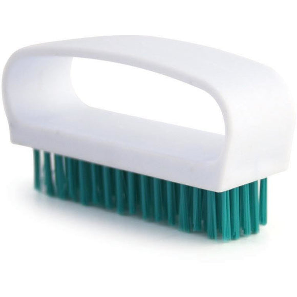 Green Nail Brush Colour Coded Food Hygiene Hand Cleaning Nail Scrubbing Brush - The Dustpan and Brush Store