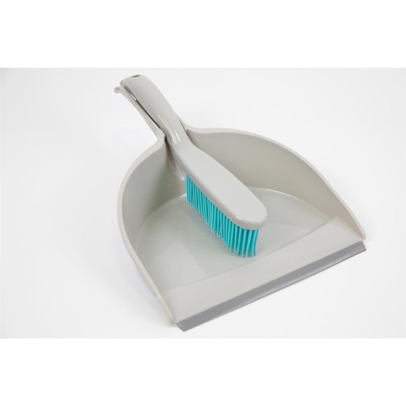 Dog & Cat Pet Hair Remover Dustpan and Rubber Hand Brush Ideal for Carpet