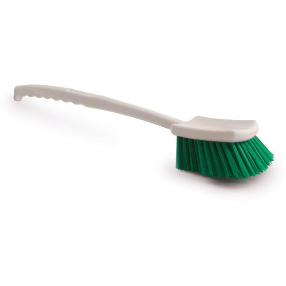 Green Long Handled Gong Churn Brush Stiff PVC Cleaning Bristles - The Dustpan and Brush Store