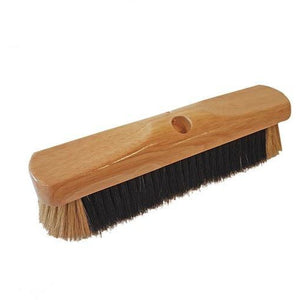 "12"" Pure Bristle High Quality Soft Natural Bristle Animal Hair Broom Head Only - Screw Fit"