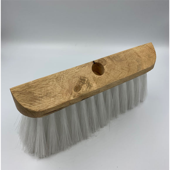Universal Wooden Gutter Lawn Sweeper Brush Broom Wood Head with Synthetic Bristles Supplied with Wooden Handle - The Dustpan and Brush Store