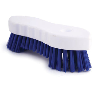 Blue Scrubbing Brush Food Hygiene Stiff Double Winged Floor Scrub Hand Deck Brush - The Dustpan and Brush Store