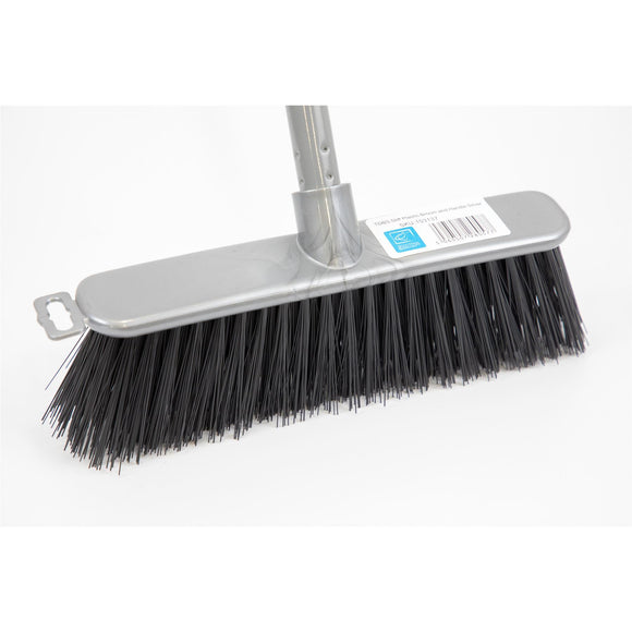 Silver Indoor Soft Sweeping Brush Head and Handle Kitchen Broom Floor Sweeper